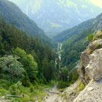 Tag 4 - Aufbruch am Fernsteinsee und es geht gleich kräftig bergauf, durch das Tegestal