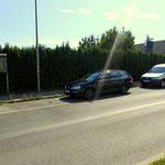 Parkplatz bei Pfarramt St. Anna in der Göstinger Strasse