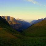 Tag 3 - Ein schöner Morgen, ein toller Blick, hinaus aus dem großen Walsertal.