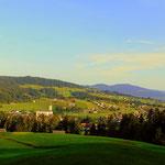 ....über Alberschwende, Abendreute, geht es teilweise auf Waldwegen....