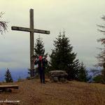 ....geschafft. Der Hohe Zetz (1264 m) ist erklommen...