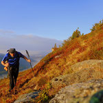 weiter im Aufstieg über die Roßscharte geht es zum Gipfel