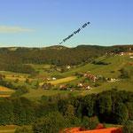 Das heutige Projekt mit dem Zwischenziel, dem Stradner Kogel 609 m, höchste Erhebung im Bezirk Süd-Oststeiermark