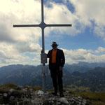 am Gipfel des Brandstein 2003 m