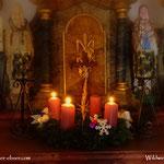 ....die 3. Kerze am Adventkranz wurde entzündet, eine kurze Andacht und weiter auf meinem Weg....