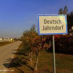 ....Deutsch Jahrndorf, eine kleine Gemeinde, den Stempel auf der Gemeinde geholt....