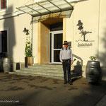 Start bei tollem Wanderwetter in Leutschach an der Weinstraße