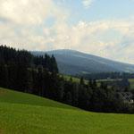 oberhalb vom Hochegger, Blick zum Windpark auf der Pretul