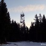 ....am Aussichtsturm ist schon ein alter Bekannter, der Maderbacher Karl aus Miesenbach, alle Jahre zur Wintersonnenwende ist dieses Treffen unumgänglich....