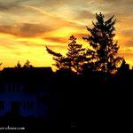 ...am Quartier angekommen und schon ist der Sonnenuntergang passiert.