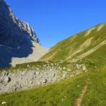 mein Weg führt weiter Richtung Hinterbergjoch.....