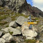...die Grießlscharte auf 2632 m, gut so, und.....