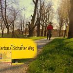 der nächste Streckenabschnitt, am Barbara Sicharter Weg