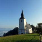 Aufbruch bei der Wallfahrtskirche Maria Rehkogel