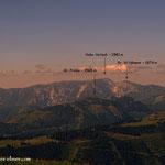 ...die Fernsicht von diesem Gipfel ist ausgezeichnet, ich habe hier versucht einige Gipfel zu benennen.....
