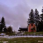 ...der Schnee ist weniger geworden, ist auch ein bisschen wärmer, aber doch noch sehr windig....