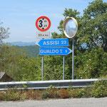 nicht mehr weit bis Assisi