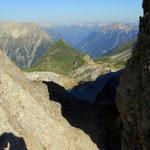 die Seescharte 2599 m ist erreicht, jetzt geht es......