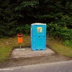 ....ja, man hat ein Pilger WC errichtet