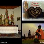 ....Karsamstag, Kerzen wurden entzündet und eine kleine Andacht gehalten. Frohe Ostern an Alle......
