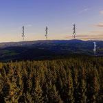 ....auch der Blick hinauf in die nordöstliche Steiermark zeigt einen blauen Himmel, somit alles cool im Steirerland.