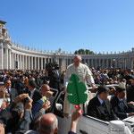 ein Erlebnis, Papst Franziskus