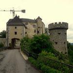 mein heutiges Etappenziel, Burg Plankenstein, zugleich mein Quartier für heute