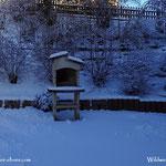 ...die Vorhersage für die zu erwartende Schneemenge von ca. 10 cm, hat eigentlich gestimmt......