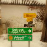 ...nach ca. 200 m geht es über den Poppendorferbach und danach links entlang am Bach....
