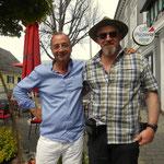in Leutschach, Dietrich Siegl (SOKO DONAU) getroffen,  ein passender Abschluß meiner Wandertage und das mit einem Schauspieler