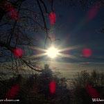 ...durch die Intensität beim Schneeschaufeln hat mich der Sonnenaufgang überrumpelt....