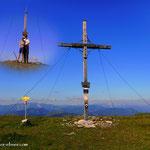 ....der Gipfel ist geschafft, Annabella ist eine tolle Wanderbegleiterin, super...