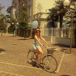 mein Motivationstrainer Pia, voll dabei beim Radeln