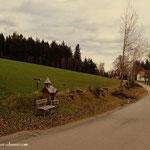 ....so gelange ich in der Nähe vom Kreuzwirt auf den Wildwiesenweg....