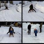 ....unser Luis beim Schlittenfahren, volle Freude, einfach super der kleine Bursche.