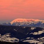 """...und die Hohe Veitsch, im """"Morgenrot"""" des neuen, dem beginnenden Tag...."""