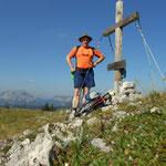 am Gipfel vom Buchbergkogel, trotz meiner Irrläufe
