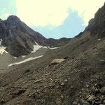 ...und dann geht es über das Langkar hinauf bis zur Grießlscharte auf 2632 m......