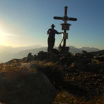 Gipfel 1 der heutigen Tour, Hauseck - 1982 m