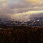 ...man sieht nur über St. Jakob im Walde hat es heute früh geschneit....