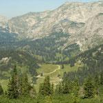Blick Richtung Sackwiesenalm und Sackwiesensee