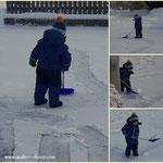 06.01.2021 - Mit vollem Einsatz hat mich mein Enkelsohn heute beim Schneeschaufeln unterstützt, ein ganz toller Bursche unser Luis.