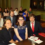 """in der """"Senatskammer"""" wo die Verteidigung ihrer Doktorarbeit, öffentlich (da konnte jeder zu hören) stattfand."""
