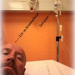 ....und dann lag ich nun im Krankenhaus. Eine halbe Nacht Untersuchungen und Infusion. Der Körper zeigt einem seine Grenzen auf.