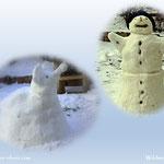 04.12.2020 - Der Schnee von gestern wurde heute verarbeitet, Mr. Snowman and little Baby elephant, für unseren Luis