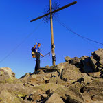 am Gipfel angekommen, Preber 2740 m