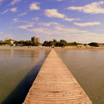 am Strand in Grado