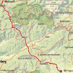die diesjährige Strecke nach Mariazell