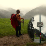 beim Abstieg nach St. Anton an der Jeßnitz hat es dann so richtig geschüttet, hat erst kurz vor St. Anton aufgehört zu regnen.