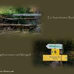 """....hier im """"Kleinland"""" führt nun der Weg wieder zurück nach Wenigzell..."""
